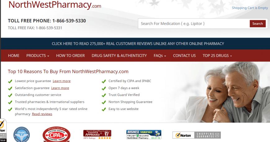Northwest Pharmacy in Canada