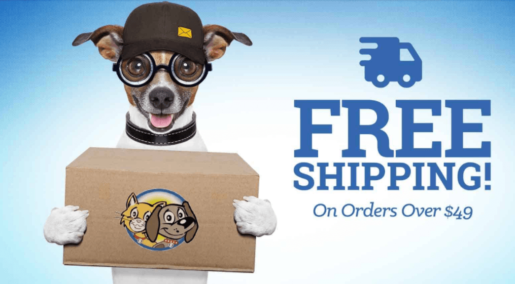 free Shipping Offer by Pet Mart Shop
