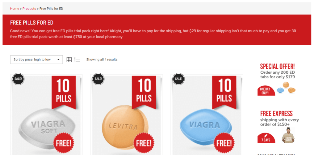Free sample pills at Via Best Buy Pharmacy