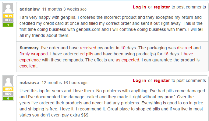 GenPills Customer Reviews