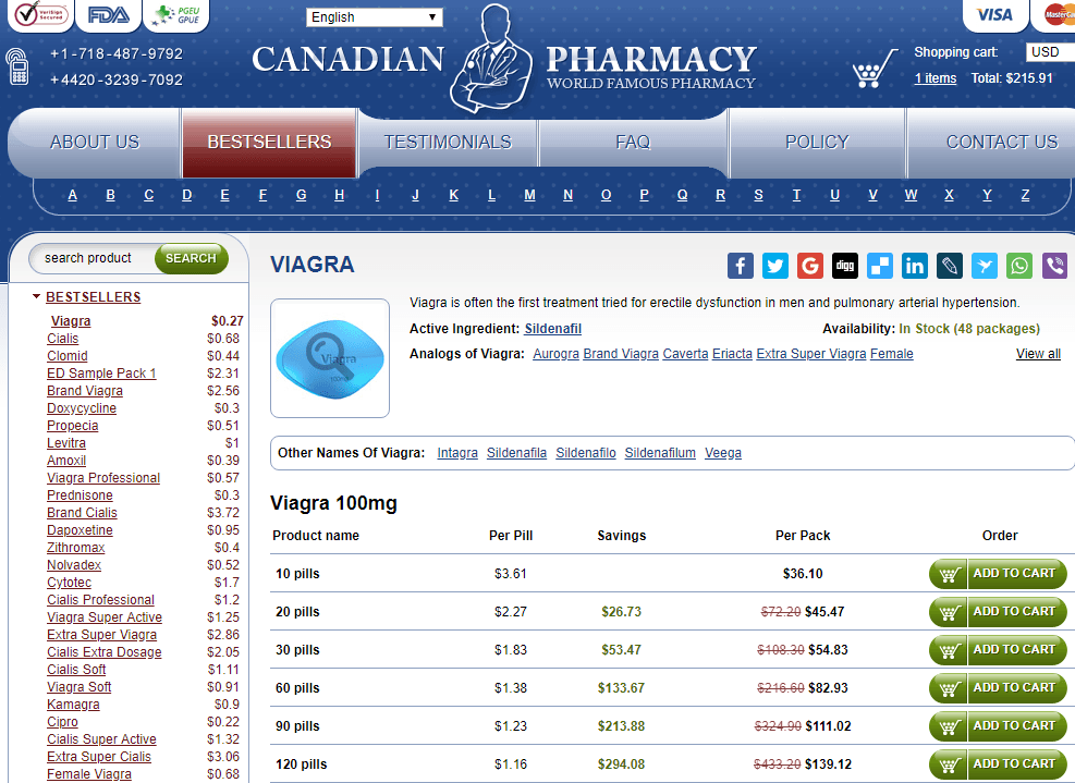 Generic Viagra 100 mg from a Canadian Pharmacy