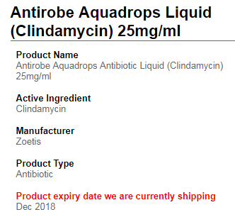 Product Expiry Date Indicated
