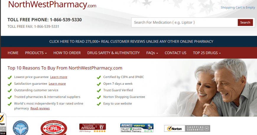 Northwest Pharmacy in Canada