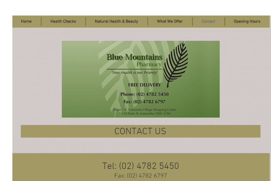 Blue Mountain Pharmacy – Free In