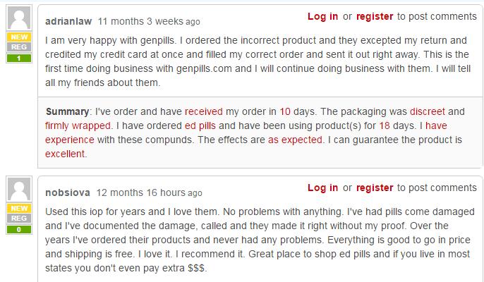 GenPills Customer Reviews