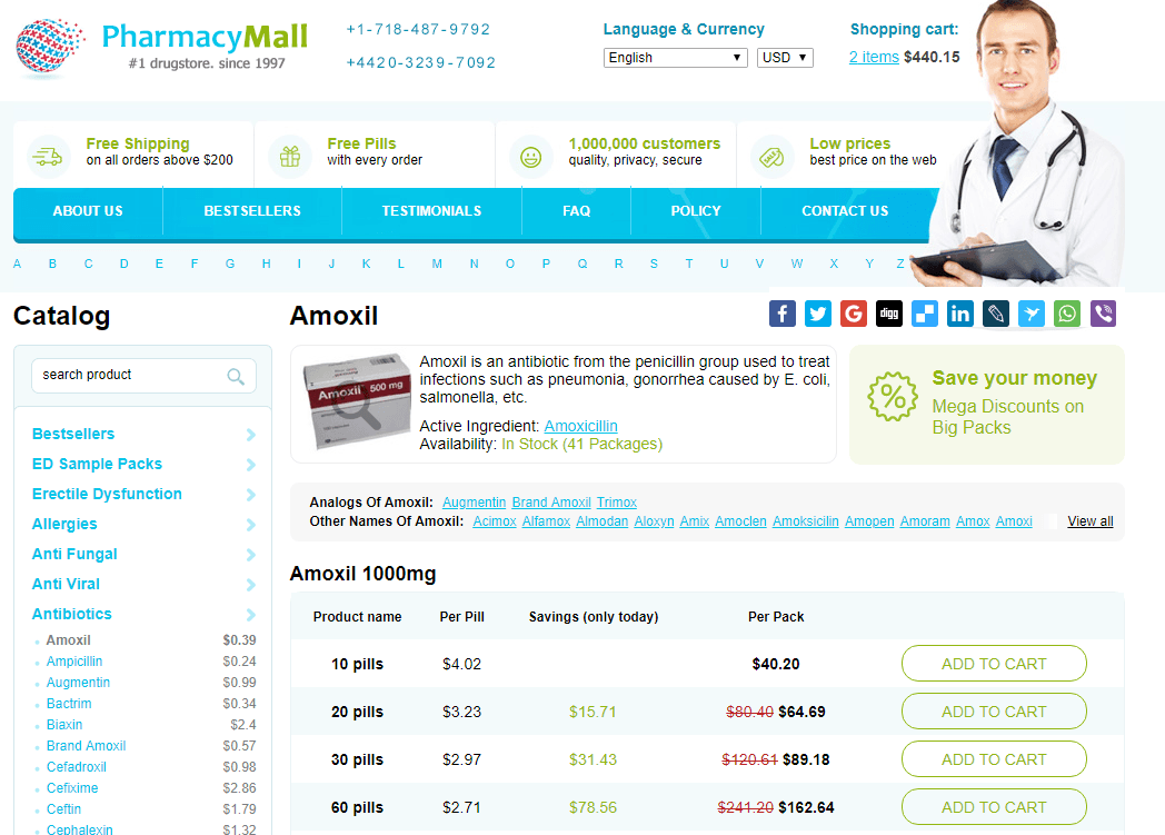 Pharmacy Mall Price for Amoxil