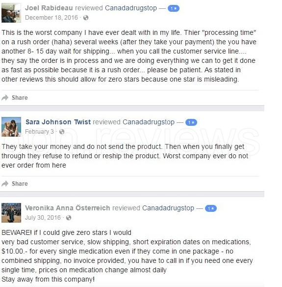 Some of the Negative Customer Reviews